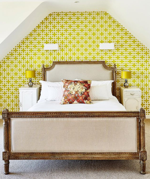 We love interior magazines! Front cover of Wealden Times featuring a yellow bedroom.