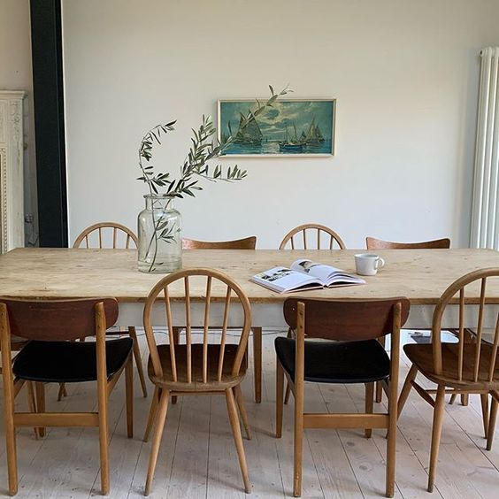20 of the best vintage interiors in the UK. Eclectic vintage chairs around a dining table