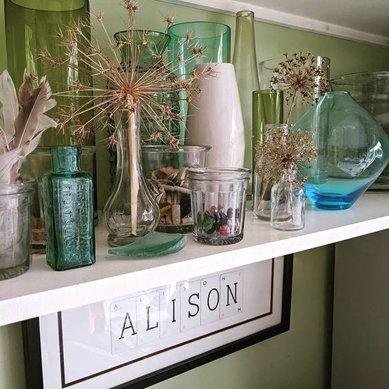 How to create a vignette - styling with glass objects in the home.