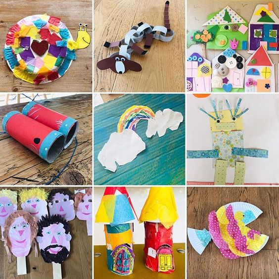 19 creative ways to use paper. 9 colourful kids crafts using paper