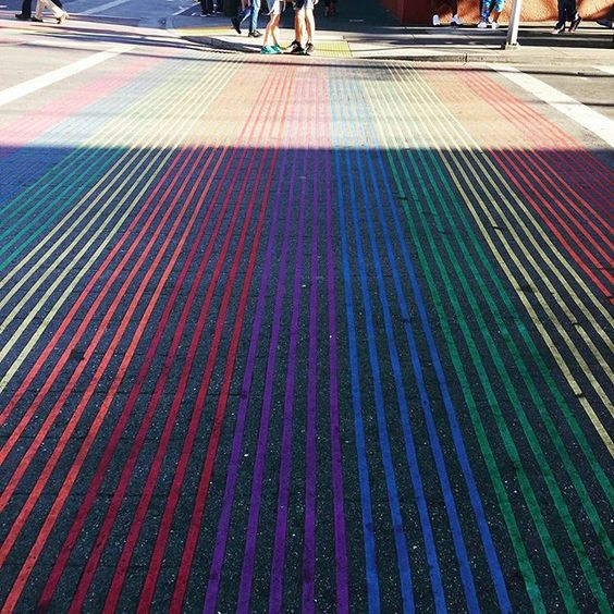 How to stay positive online in 2020. Rainbow coloured carpet.
