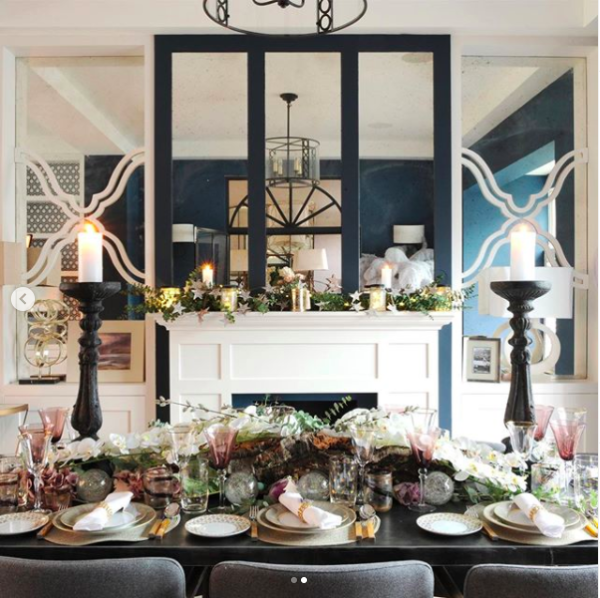Beautifully styled Christmas tablescape