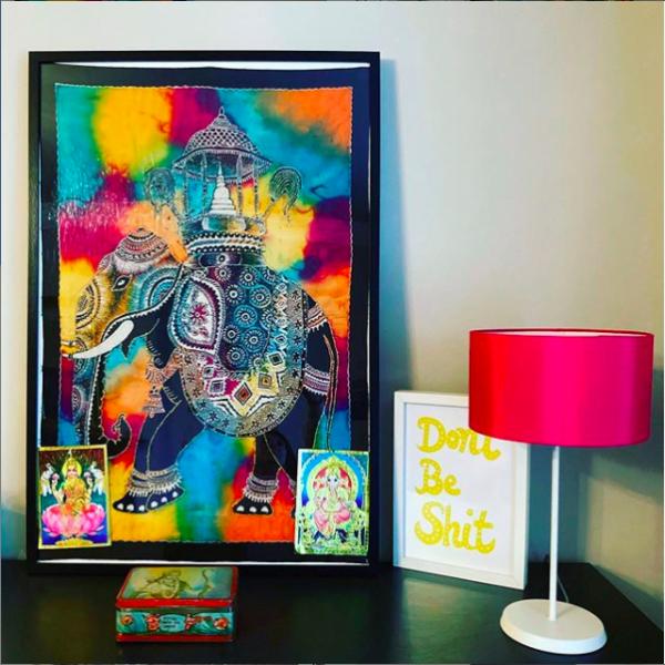 Vignette of brightly coloured artwork