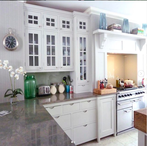 My happy place. White shaker family kitchen with simple styling