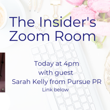 Insider's Zoom Room - Sarah Kelly