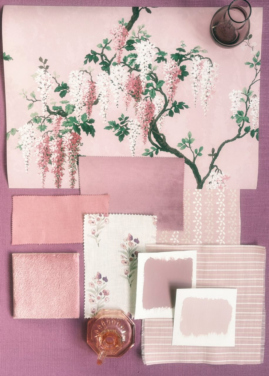 Pink bedroom moodboard to inspire rooms
