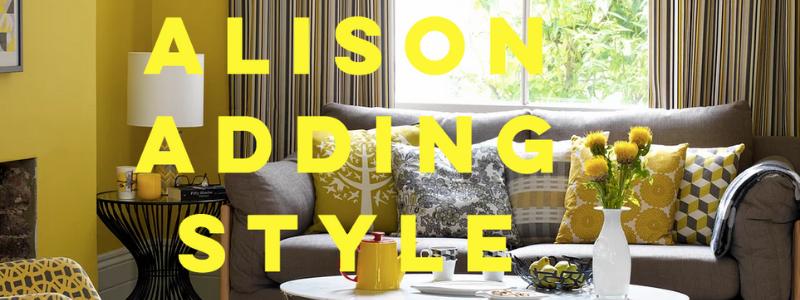 Vibrant yellow living room