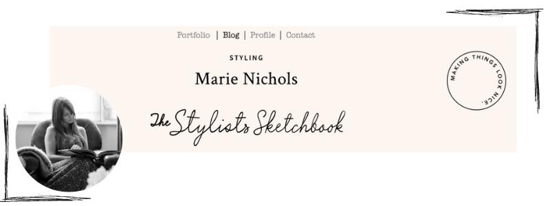 Featured image advertising stylist Marie Nichols' blog